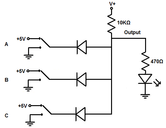 7 Segment Display Schematic 4 Digit DC Voltmeter Schematic