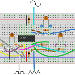 Convert Circuit Diagram To Breadboard Caldera Volcano How Build A Simple Function Generator With An Lm324 Op