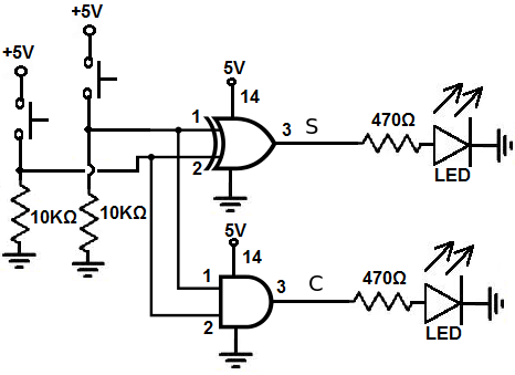 How to Build a Half Adder Circuit