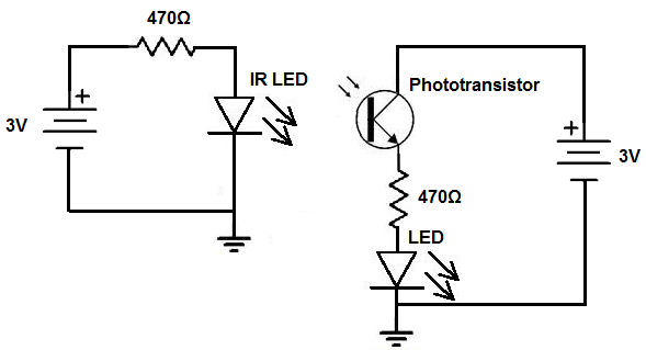 ir phototransistor circuit