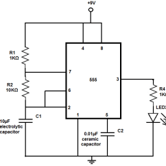 Led Wiring Diagram 9v Wb Statesman How To Build An Flasher Circuit With A 555 Timer Chip