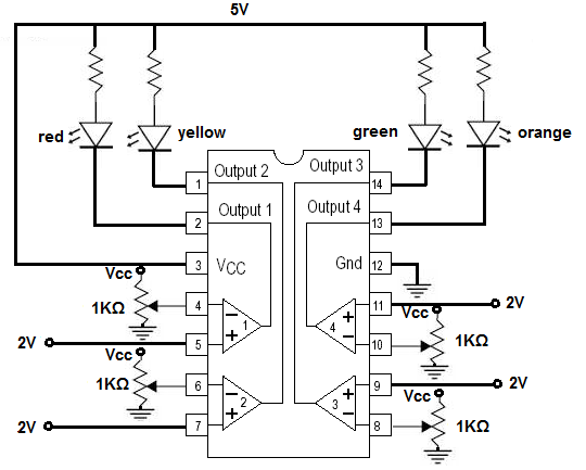 How to Build an LM339 Quad Voltage Comparator Circuit