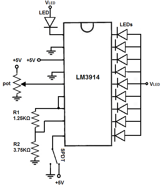 How to Build an LM3914 Dot/Bar Display Driver Circuit