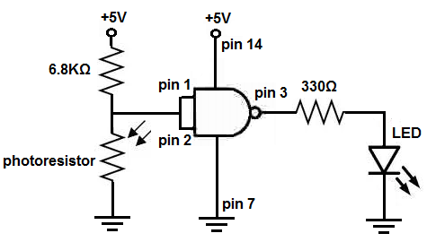 How to Build a Light Detector Circuit with a NAND Gate Chip