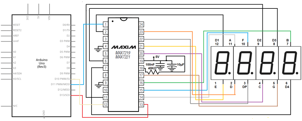 medium resolution of max7219 circuit