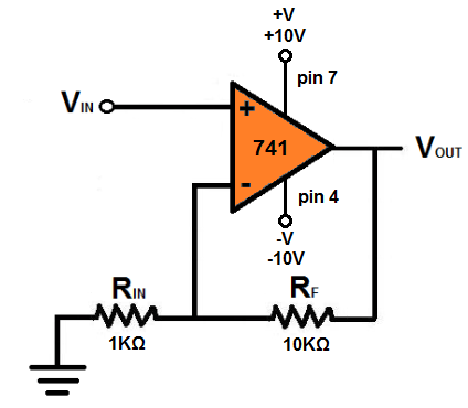 circuit diagram of non inverting amplifier apache 100 quad wiring how to build a op amp