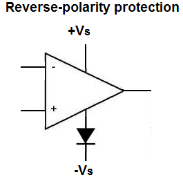 Op Amp Reverse-polarity Protection