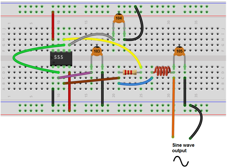 convert circuit diagram to breadboard prestolite alternator wiring how build a sine wave generator with 555 timer chip