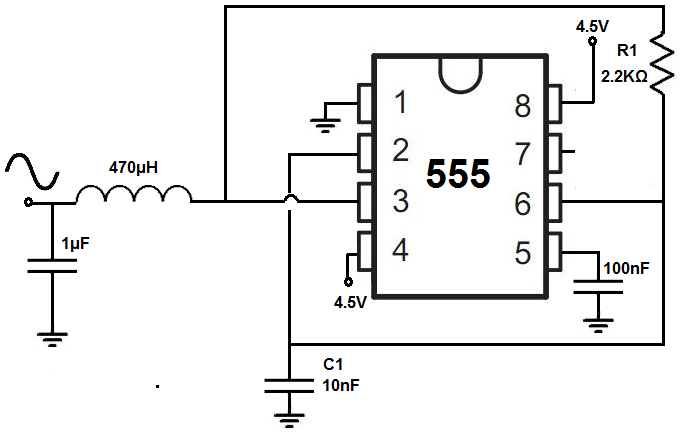 Amplifier for a 17Hz sine wave from a 555 timer