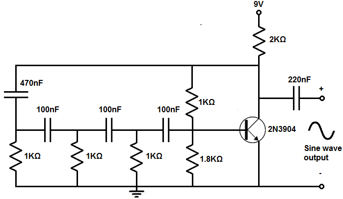 this above circuit built on a breadboard is shown below