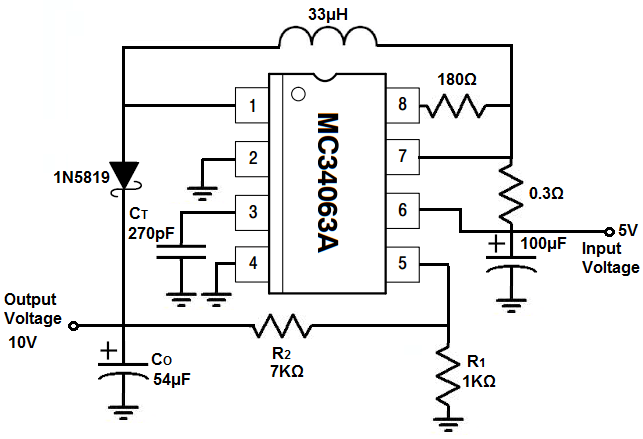 circuit diagram of 12v and 5v power supply