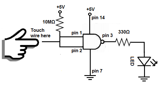 circuit diagram for nand gate
