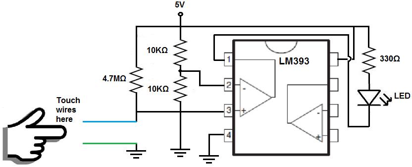 circuit diagram of a comparator