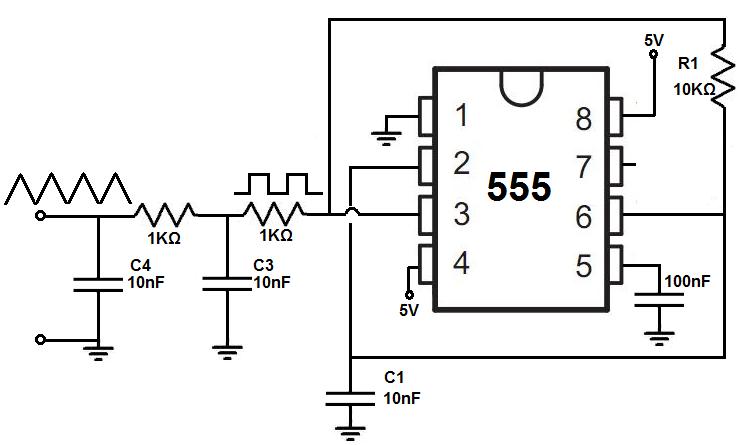 555 square wave generator circuit