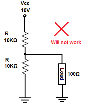 Voltage divider circuit that does not work