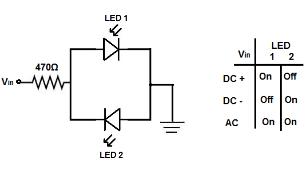 How to Build a Voltage Polarity Indicator Circuit