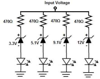 How to Build a Voltmeter Circuit with Zener Diodes