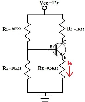 How to Calculate the Emitter Current, Ie, of a Transistor