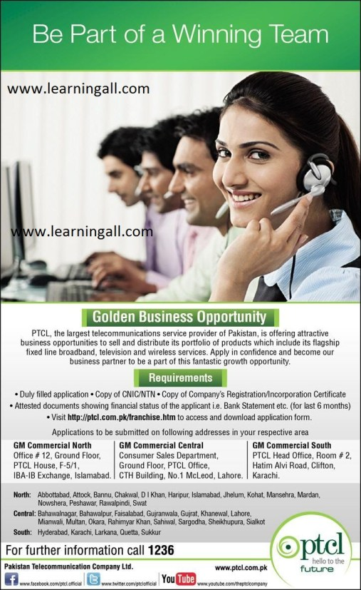 PTCL Invites Applications for new Franchises 2013