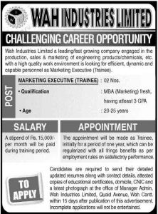 marketing-jobs-in-wah-cantt