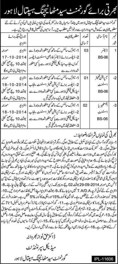 Teaching-Hospital-Jobs-in-lahore