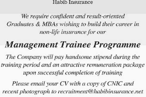 Habib-Insurance-Management-Trainee-Program