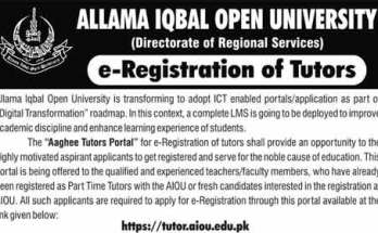How to Become Tutor in AIOU Registration Application Form