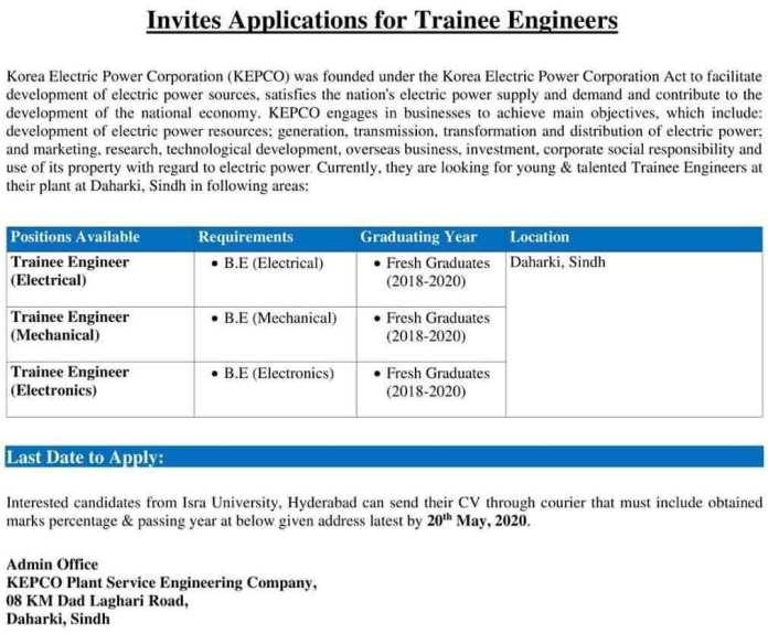 KEPCO-Power-Supply-Trainee-Engineer-Program