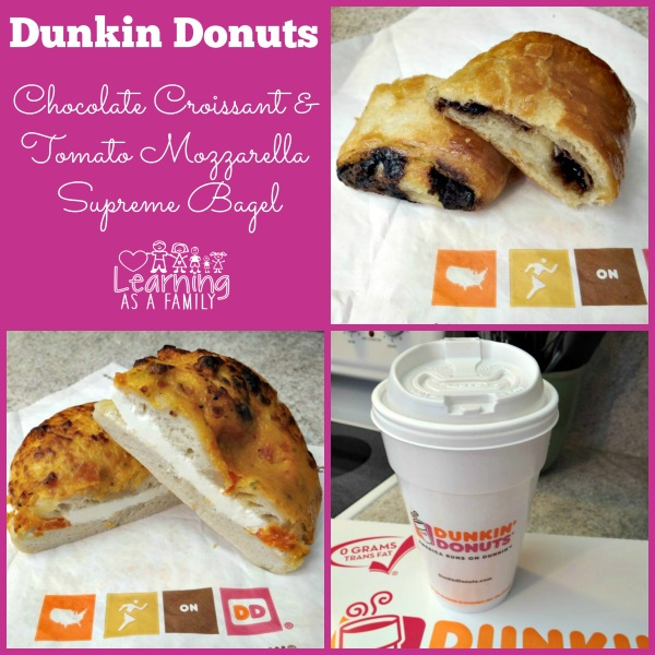 Dunkin' Donuts Chocolate Croissant and Tomato Mozzarella Supreme Bagel! #GIVEAWAY
