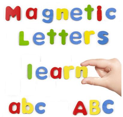 Letras de madera magnéticas