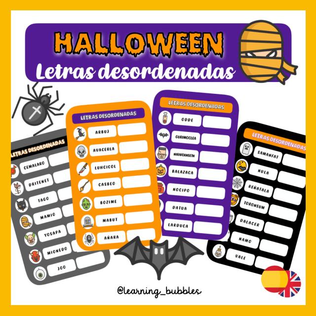 halloween letras desordenadas recursos y actividades