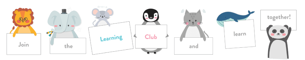 Learning club friends footer image
