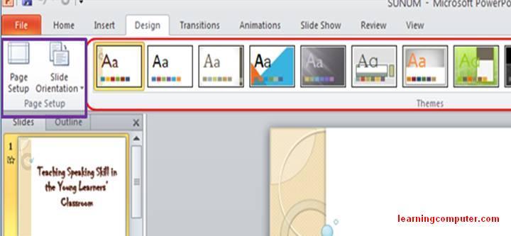 Microsoft Powerpoint Animation Tab