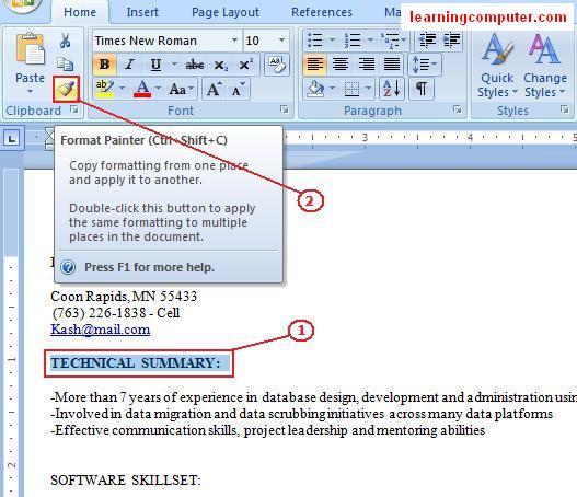 Gt Microsoft Word 2007 Home Tab Softknowledge S Blog