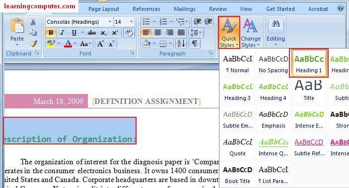 >Microsoft Word 2007 – Page Layout Tab | Softknowledge's Blog