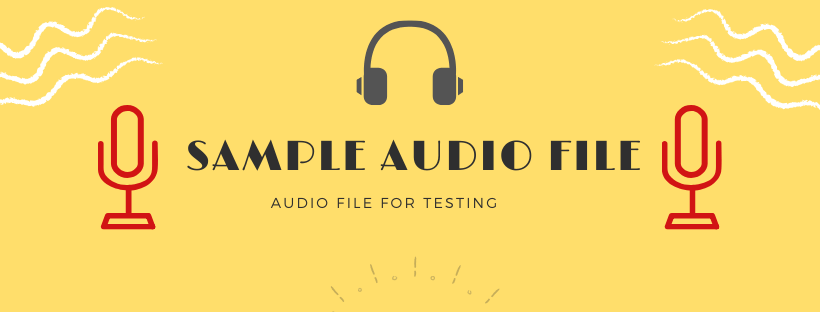 sample audio file