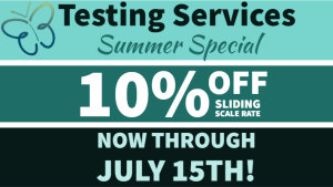 10% Off Testing Services Flyer