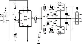 555 DC/DC Converter Circuit Diagram