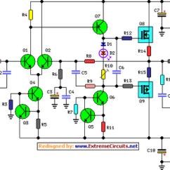 Audio Amplifier Circuit Diagram With Layout E30 Wiring Radio Power Schematic Great Installation Of 60 Watt Rh Learningelectronics Net American 1000w