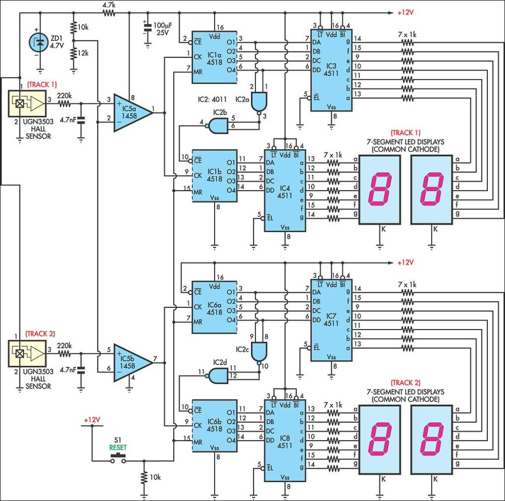 medium resolution of afx slot car lap counter circuit schematic