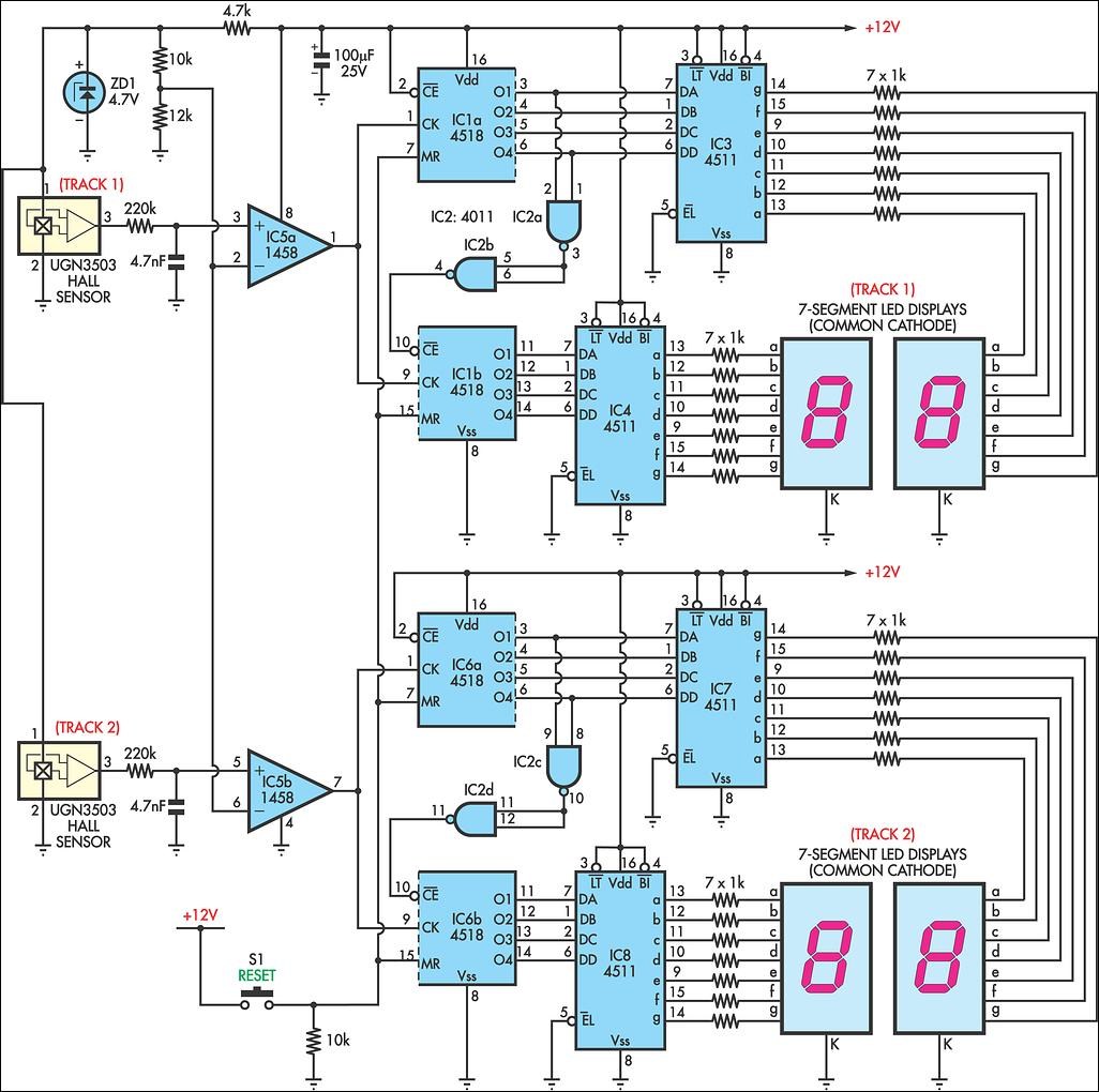 hight resolution of afx slot car lap counter circuit schematic