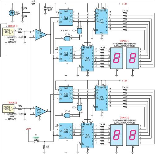 small resolution of afx slot car lap counter circuit schematic