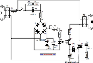 Automatic Light Dimmer Circuit Diagram