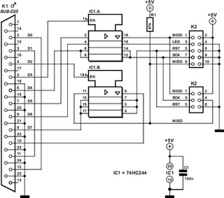 AVR Dongle Circuit Diagram
