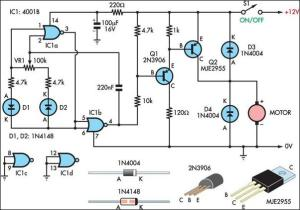 Two Basic Motor Speed Controllers Circuit Diagram