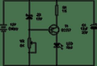 Battery Self Discharge Indicator Circuit Diagram