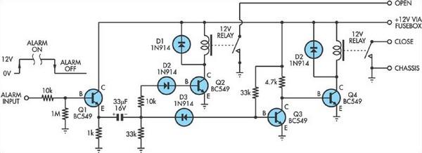 Central Locking Interface Circuit Diagram
