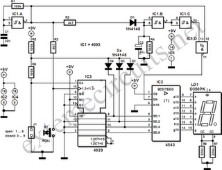 Electronic Die Circuit Diagram