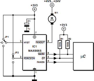 Fan Controller Using Just Two Components Circuit Diagram