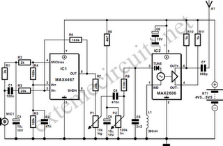 FM Wireless Microphone Circuit Diagram